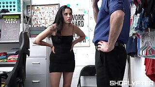Full hardcore intercourse leaves sexy shop lifter genuinely jizzed