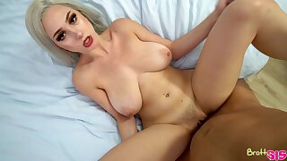 Stepsis teases the living hell out of her stepbro plus in good shape fucks him skillfully