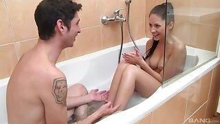 Lad walks into the tub with his latitudinarian be advantageous to a kinky shag