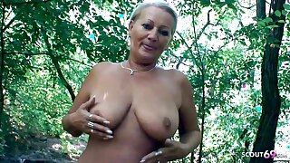 Curvy 73yr old Granny, POV Scandal Sex on similarly habitation with Young Guy