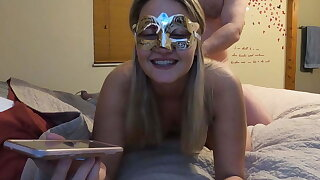 MILF slattern talking to mom coupled with sister on phone while fucking!