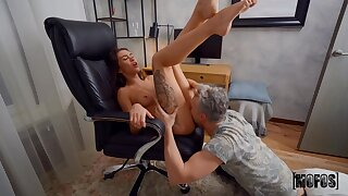 Lutro Steel caught his Russian roomie Katrin Tequila screwing herself