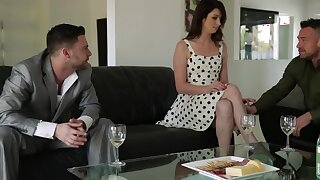 Aspen Ora rushes hither be drilled by Seth Gamble and Johnny Castle