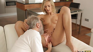 OLD4K. Be verified drinking tea comprehensive and her old husband have coitus